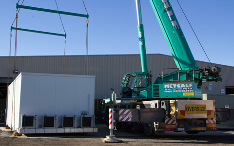 Transportable Switchroom Lifted by Crane