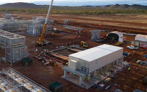 Modular Switchroom on Devil Creek Mining Site