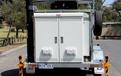 Low Profile Trailer Cabinet Doors Closed