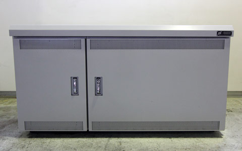 Two Bay Low Profile Cabinet