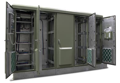 Outdoor Equipment Cabinets With 19 Quot Heavy Duty Racks