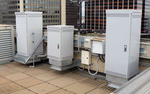 Stand-Alone Cabinets on rooftop