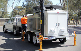 Satellite Trailer towed by ute