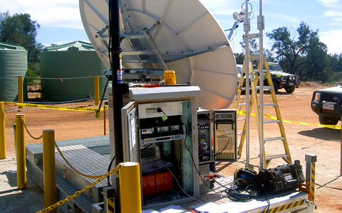 Satellite Skid System Deployed on Site