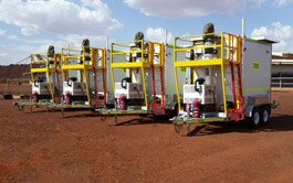 Solar Cell on Wheels (SCOW) on Mining Site