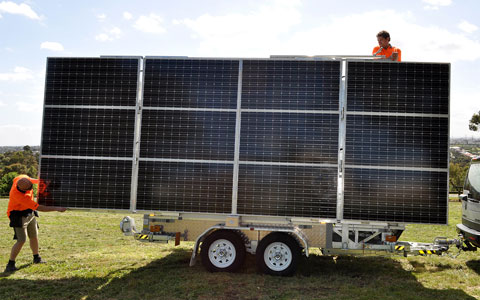 Solar Cell On Wheels Solar Communications Trailer
