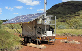 Solar Cell on Wheels on site