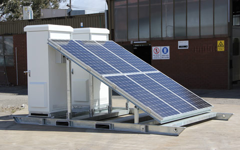 Solar Skid System at ICS Industries' Factory