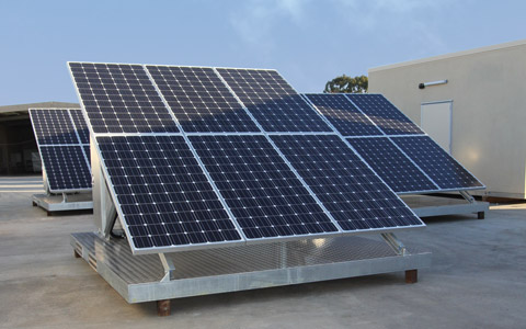 Solar Skids in ICS Factory Yard