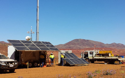 Solar Skids deployed on Mining Site